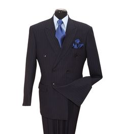 This Double Breasted Navy Suit Is What You Need For Easter.               sprightenterprise.com