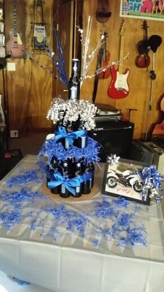 Platinum Budlight Beer Cake..GIFT TABLE
