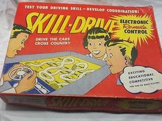 1960 TARCO TOY SKILL DRIVE GAME~~