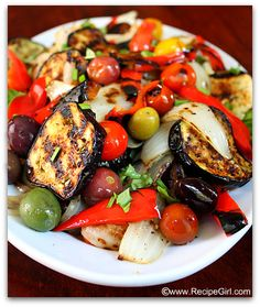 This grilled vegetable salad recipe is composed of sweet grilled vegetables tossed in a light dressing. This grilled vegetable salad recipe is composed of sweet grilled vegetables tossed in a light dressing. Grilled Vegetable Salads, Roasted Vegetable Salad, Vegetable Salad Recipes, Summer Salad Recipes, Grilled Vegetables, Summer Salads, Vegetarian Recipes, Cooking Recipes, Healthy Recipes