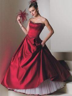 robe de mari e rouge noir ballon longue bustier organza perles tra ne chapelle pour laetitia. Black Bedroom Furniture Sets. Home Design Ideas