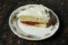 The heavy cream provides the fat for this cream cake recipe. This cream cake is made with eggs, sugar, cream, and other ingredients.