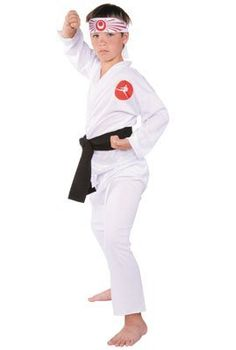Karate Child Halloween Costume Size 12-14 (B530) by RG Costumes. $15.90. Karate Costume includes: Jacket, pants, belt and headband. Size 12-14.