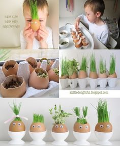 This isn't just a winner for Easter, it's a winner for Spring! Special thanks to… This isn't just a winner for Easter, it's a winner for Spring! Preschool Garden, Preschool Crafts, Easter Crafts, Diy For Kids, Crafts For Kids, Decoration Plante, Spring Projects, Shell Crafts, Diy Home Crafts