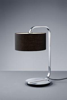 CANNES Trio - stolná lampa - čierny textil - 530mm