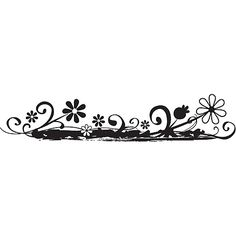 Hampton Art Kelly Panacci Rubber Stamp - Flower Horizon