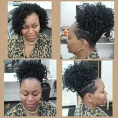 Shaved sides with more crochet braids | Awesome hair ...