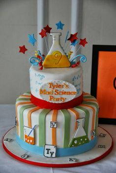 mad science birthday cake girl | ... ...here is the formula for Tyler's Mad Science birthday party