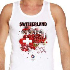#Euro2016 #SWITZERLAND #Nati #NatiSuisse #XherdanShaqiri #GokhanInler #EUFA #EUFA16 #PES #Football #Sports #Championship #European #Season2016 #vest  #tanktop #men