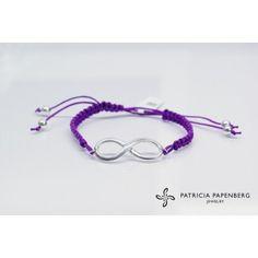 #Bracelet Infinity - Violet #jewels #jewelry #Bracciale inginito #gioielli http://www.patriciapapenberg.com/default/kleine-preziosen/infinito/bracelet-infinity-violet.html