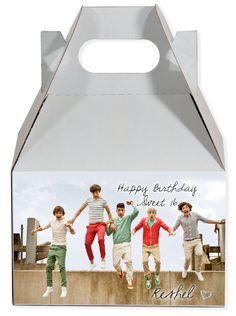 World of Pinatas - One Direction Personalized Gable Box (set of 6), $11.99 (http://www.worldofpinatas.com/one-direction-personalized-gable-box-set-of-6/)