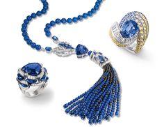 CHAUMET | Lumieres d'Eau Collection with Sapphires and Tanzanites | La Beℓℓe ℳystère