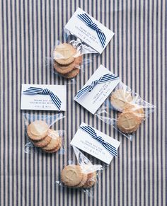 Nautical stamped cookie favors