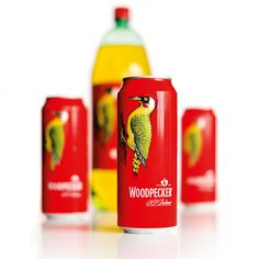 woodpecker cider with new label