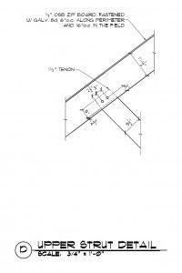 Upper King Post Strut Detail -  http://timberframehq.com/upper-king-post-strut-rafter-detail/