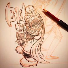 Gimli Progress: For a limited time Ive lowered my commission prices. $25 BW (2 spots left); $50 some color  http://rndm.us/jms # # Drawn using @artemscribendi's awesome pen holder # # #periscope #comics #commissions #artemscribendiholder #artist #artistofinstagram #artistoninstagram #art #drawordie #drawdaily #drawventure #dippen  #mrjaymyers #pentel #pentelsecrets #modmypentel  #augustinks #gimli #lotr #legolas #legs