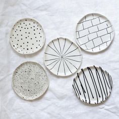 Items similar to Catchall Black and White Trinket Dish Jewelry Dish Ready to Ship on Etsy Ceramic Cafe, Ceramic Pottery, Pottery Painting, Ceramic Painting, Diy Clay, Clay Crafts, Ceramic Pinch Pots, Clay Plates, Clay Design