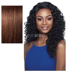 Outre Lace Front Amber - Color 4 - Synthetic (Curling Iron Safe) Invisible L-Part Lace Front Wig - Closed Invisible L-Part