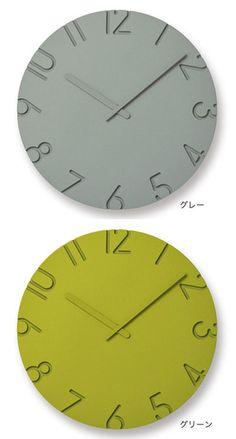 タカタレムノス壁掛け時計振り子時計CARVEDCOLORED(カーヴドカラー)※Mサイズの参考価格です。その他サイズの価格はご注文後にメールにてご案内致します【楽ギフ_包装】【2016年新作】 Home Clock, Concrete Art, Clock Decor, Wooden Clock, Wooden Watch, Oclock, Stationery, House Design, Interior