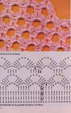 LES PRESENTO LA FALDITA QUE LE GUSTO MUCHO A NUESTRA AMIGA LUPITA YO LA ENCONTRE EN OLX LOS CLASIFICADOS DE VENTA ASI QUE ES CASI IMPOSIBLE ... Crochet Diagram, Crochet Chart, Crochet Motif, Crochet Designs, Crochet Lace, Crotchet Stitches, Crochet Shell Stitch, Crochet Poncho Patterns, Knitting Patterns