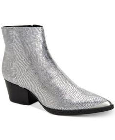 Calvin Klein Women's Narice Varnished Boots - Silver 5.5M