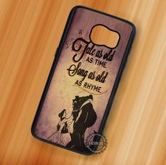 Tale as Old as Time Beauty and The Beast Quotes - Samsung Galaxy S7 S6 S5 Note 7 Cases & Covers