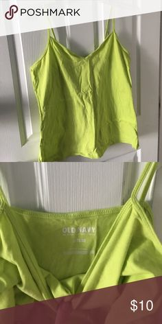 Old navy layering tank 2 for $12 Lime green layering tank Old Navy Tops