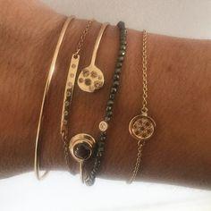 "Let's take Friday! From the collection ""petite"" - brown diamonds, red and yellow gold 18 k, pyrite.  #kajunsmycken#gold#coffediamonds#diamonds#chocolatediamonds#pyrite#bracelet#jewellery#jewels#jewelery#brown#fashion#lovegold#preciousfair#smycken#juveler#guld#armband#brunadiamanter#browndiamonds"