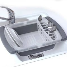 Product Image for prepworks® Collapsible Over the Sink Dish Drainer 2 out of