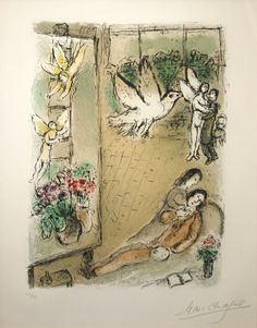 Marc Chagall, L'Oiseau Dans L'Atelier available at #gallartcom