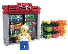 Lego Cola Cooler soda refrigerator convenience store