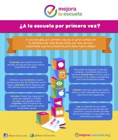 ¿A la escuela por primera vez? Infographic, First Time, Learning, Psicologia, School, Happy Children, Families, Infographics