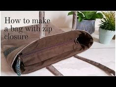 Zip closure for handbags - YouTube