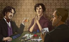 Poker Night: Sherlock Holmes' Only <<< This fanart by perishing_twinkie is awesome. Although shame on JLM for betting poor Clyde the turtle.
