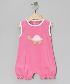 Love this Hot Pink Turtle Bubble Romper - Infant by Albo Bebé on #zulily! #zulilyfinds