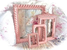 SALE SALE SALE Shabby Vintage Coral Pink Distressed by MoFauxChic