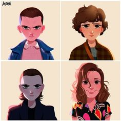 Stranger Things Eleven by Ximena Lou, Millie Bobby Brown, Seasons 1 2 fanart, fan art Stranger Things Netflix, Stranger Things Actors, Stranger Things Aesthetic, Stranger Things Season 3, Stranger Things Funny, Eleven Stranger Things, Stranger Things Fan Art, Starnger Things, Stranger Danger