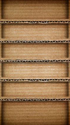 Brown Cardboard Shelf iPhone 5(s) Wallpaper