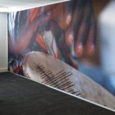 wallcovering | wandbekleding Textielframe met wisselbaar fotodoek