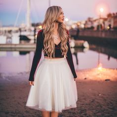 [The City Blonde] Ivory Ashley tulle skirt by Bliss Tulle