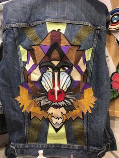 Levis Tailor shop embroidery customization baboon trucker jacket denim jacket