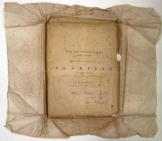 Clarissa book wrapping (1796)