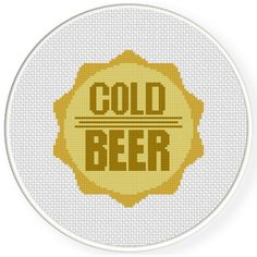 Charts Club Members Only: Beer Cap Cross Stitch Pattern