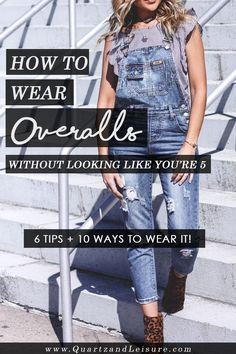 How to Wear Denim Overalls // Quartz & Leisure