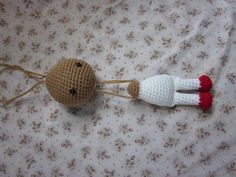 Brilliant head-jointing technique for a crochet doll tutorial by By Hook, By Hand.