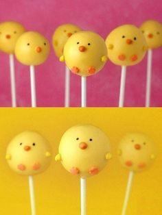 Spring chickens lollypop – so adorable!!! <3