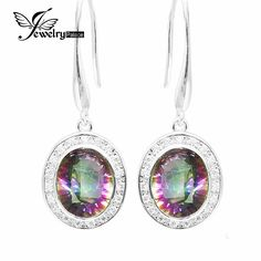 Infinity Hot Jewelry High Quality 6ct Natural Rainbow Fire Mystic Topaz Dangle Earrings Solid 925 Sterling Silver Brand New -- Shop now for Xmas. Detailed information can be found on  AliExpress.com. Just click the VISIT button. #christmasgifts