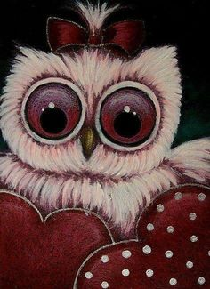 Owl with Hearts