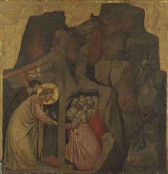 Christ in Limbo / Cristo en el Limbo // 14th century // Giotto di Bondone // Alte Pinakothek // #Jesus #HolyWeek
