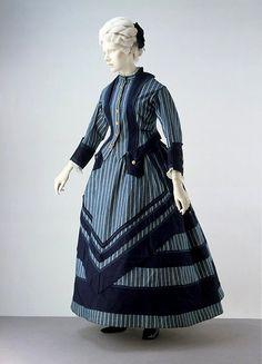 circa 1872 boating or seaside dress